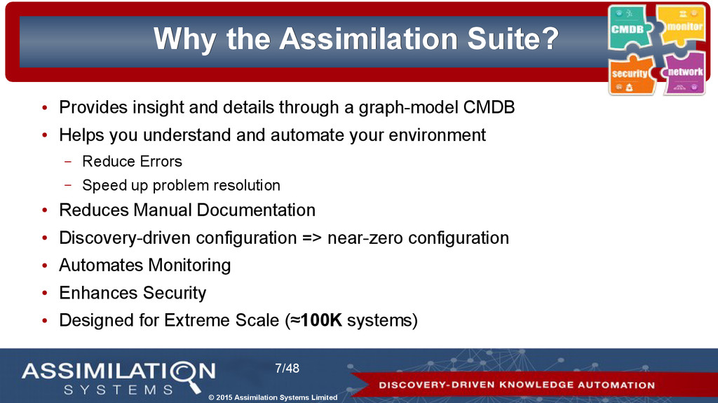 © 2015 Assimilation Systems Limited 7/48 Why Wh...