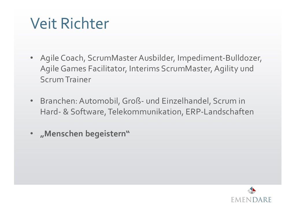 Veit Richter • Agile Coach, ScrumMaster Ausbild...