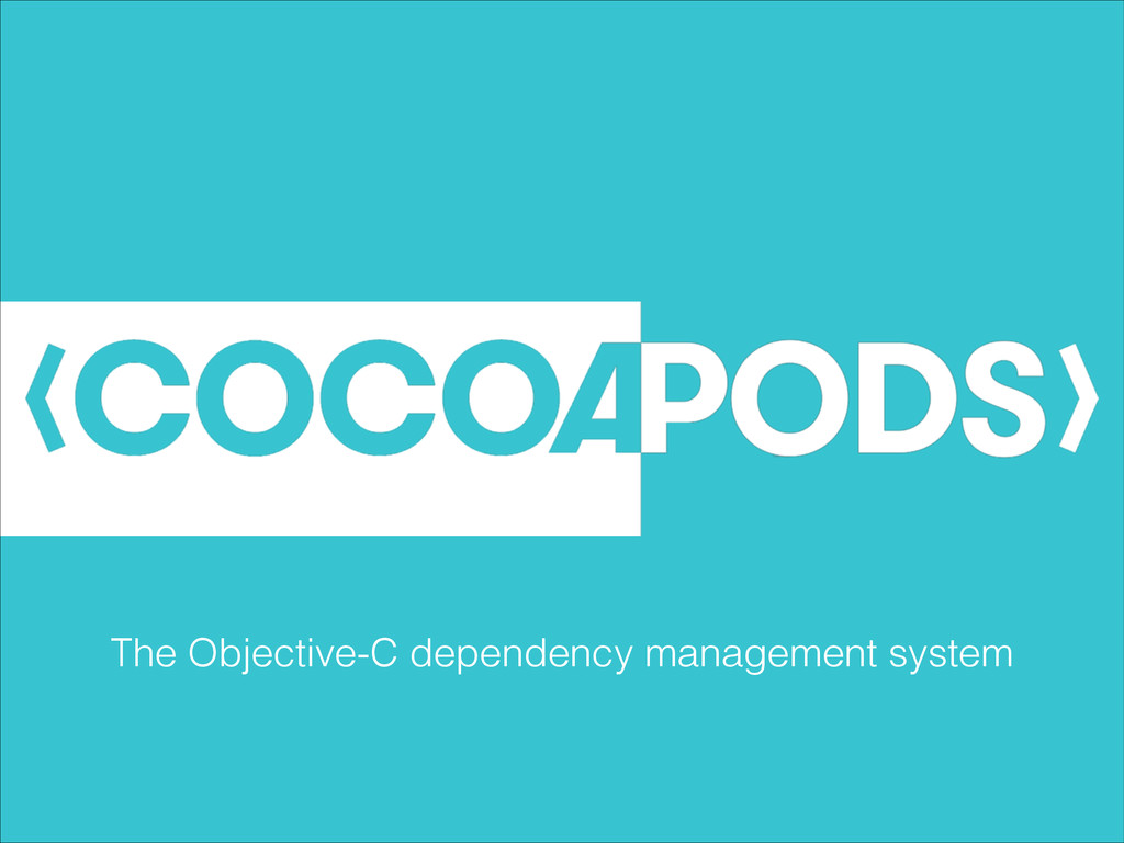 The Objective-C dependency management system
