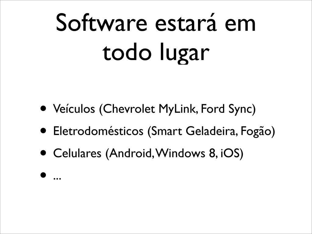 Software estará em todo lugar • Veículos (Chevr...