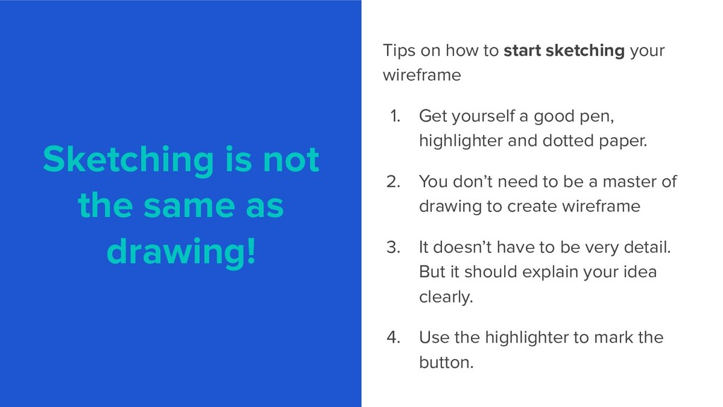 Sketching is not the same as drawing! Tips on h...