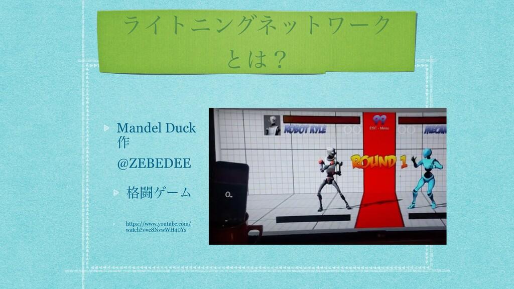 ϥΠτχϯάωοτϫʔΫ ͱʁ Mandel Duck ࡞ @ZEBEDEE ֨ಆήʔϜ h...