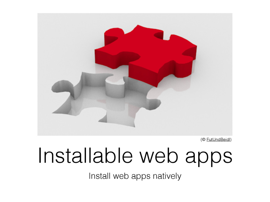 Installable web apps Install web apps natively ...