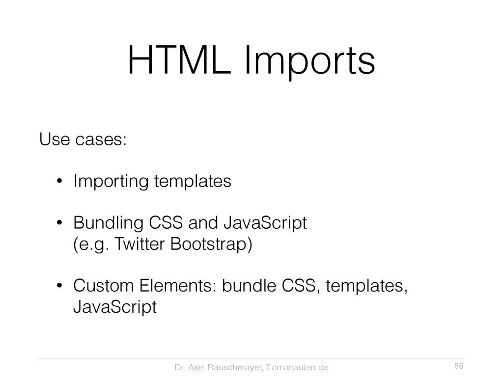 Dr. Axel Rauschmayer, Ecmanauten.de HTML Import...