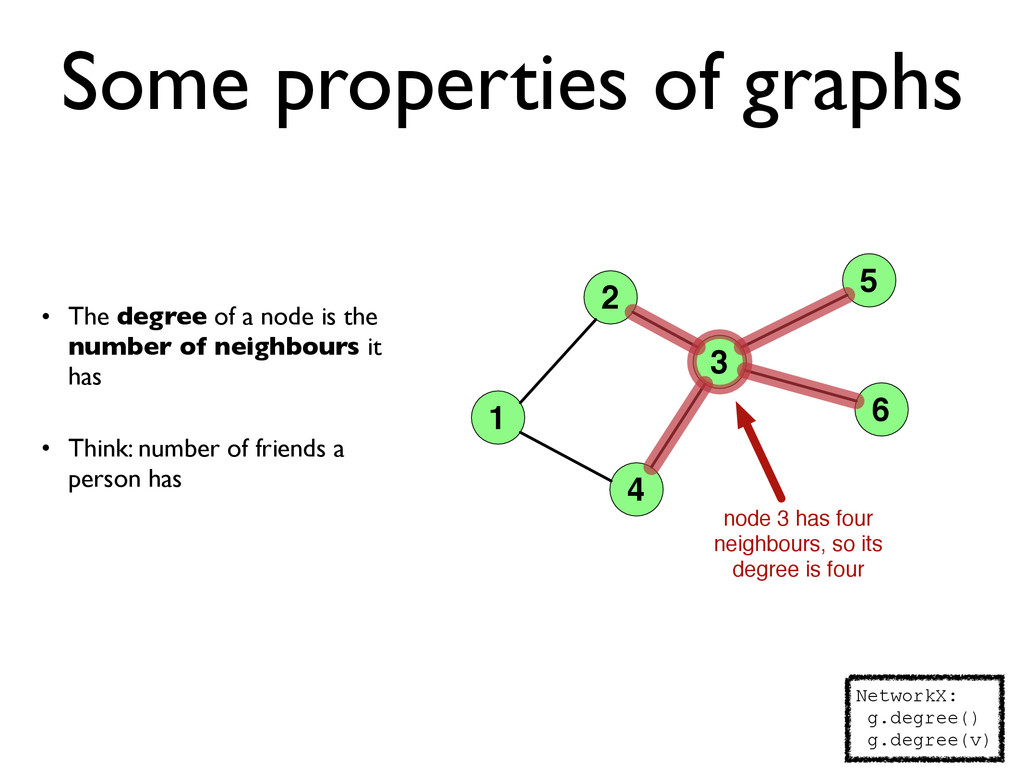 Some properties of graphs • The degree of a nod...