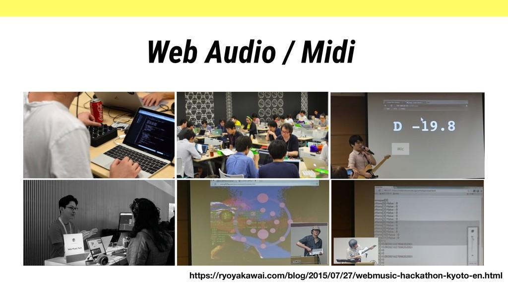 Web Audio / Midi https://ryoyakawai.com/blog/20...