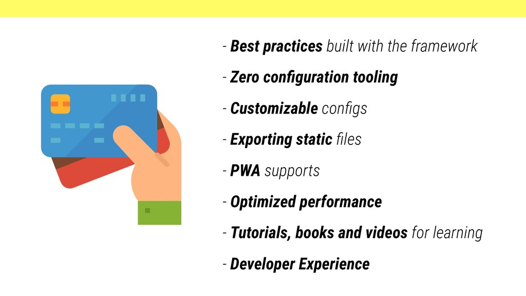 - Best practices built with the framework - Zer...