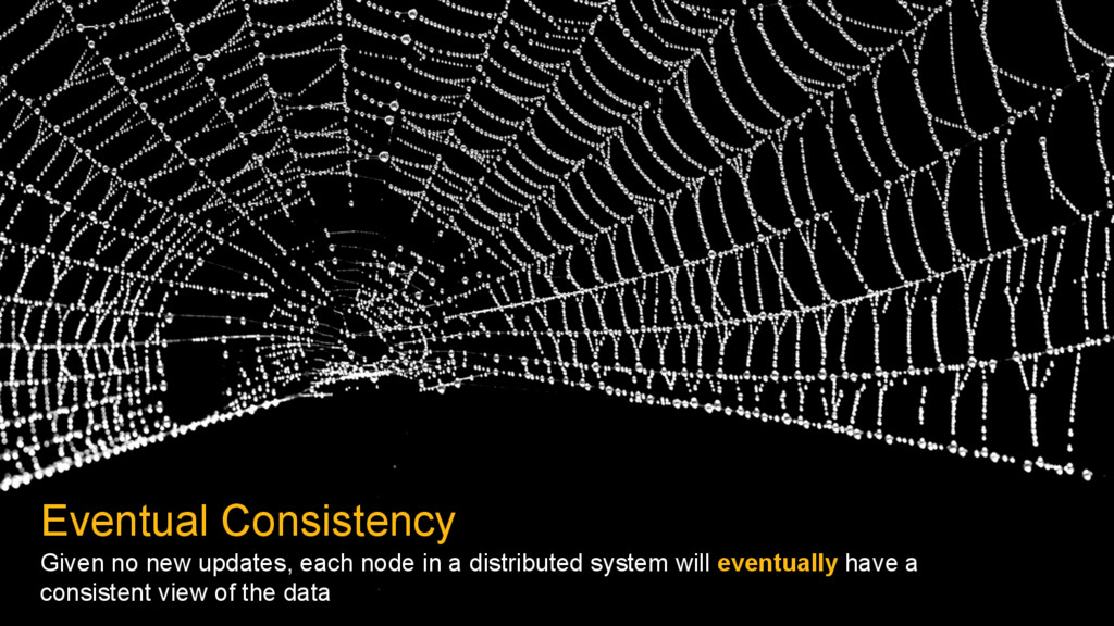 Eventual Consistency Given no new updates, each...