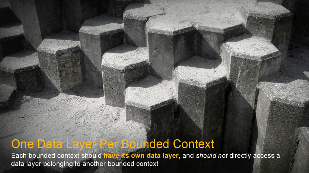 One Data Layer Per Bounded Context Each bounded...