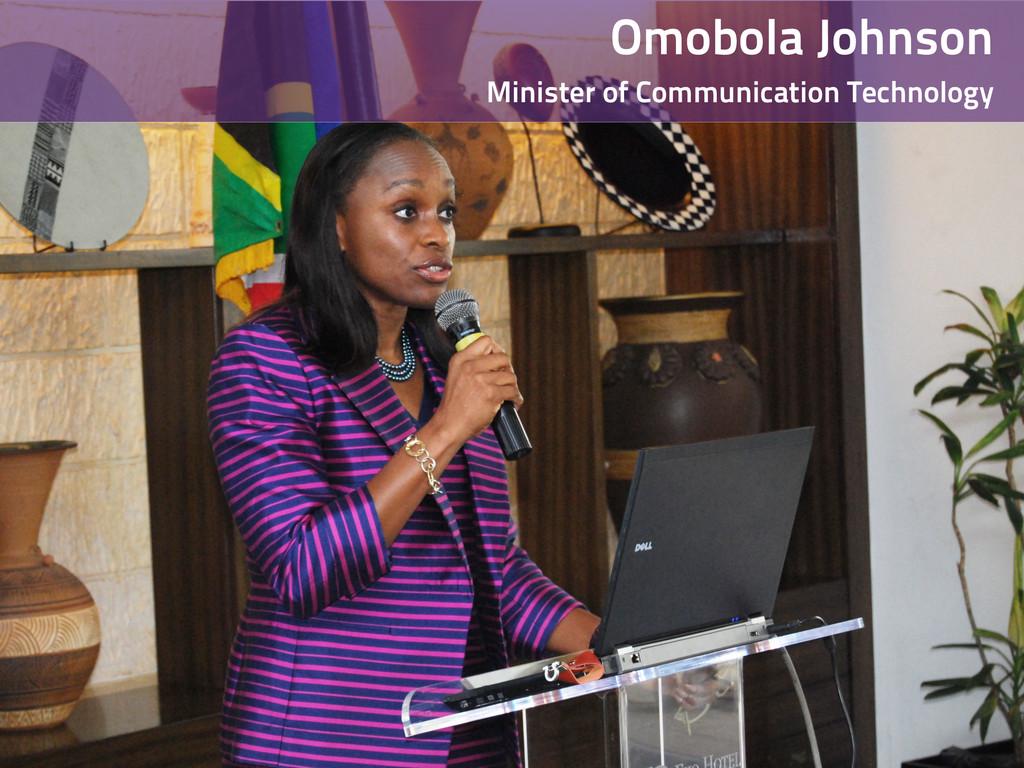 Omobola Johnson Minister of Communication Techn...