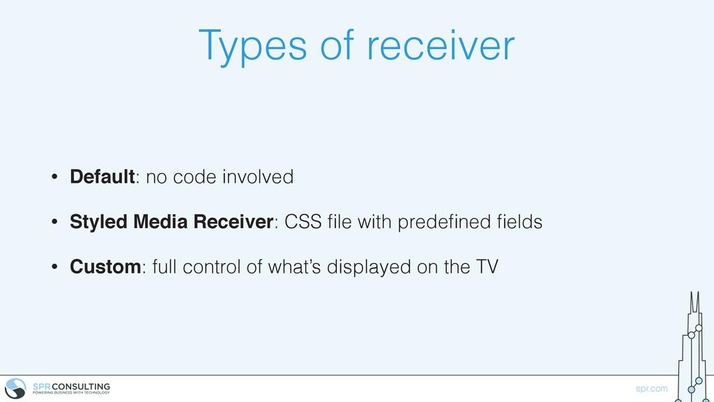 spr.com Types of receiver • Default: no code in...