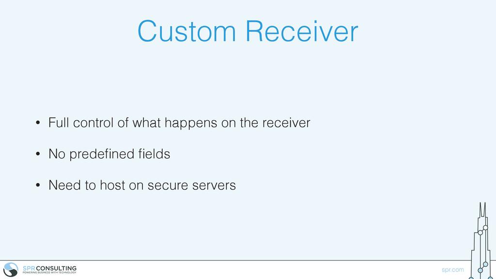 spr.com Custom Receiver • Full control of what ...
