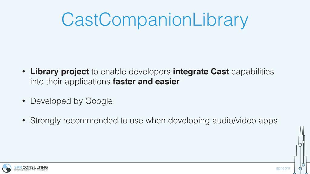 spr.com CastCompanionLibrary • Library project ...
