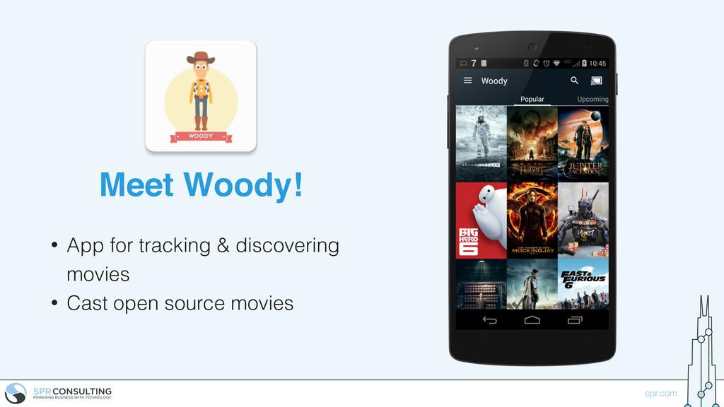 spr.com Meet Woody! • App for tracking & discov...
