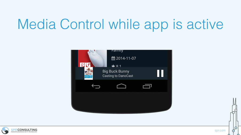 spr.com Media Control while app is active