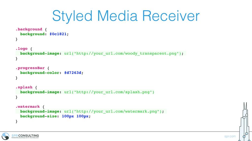 spr.com Styled Media Receiver .background { bac...