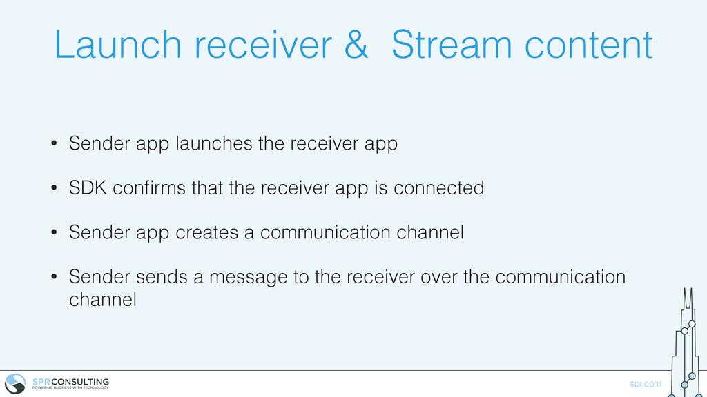spr.com Launch receiver & Stream content • Send...
