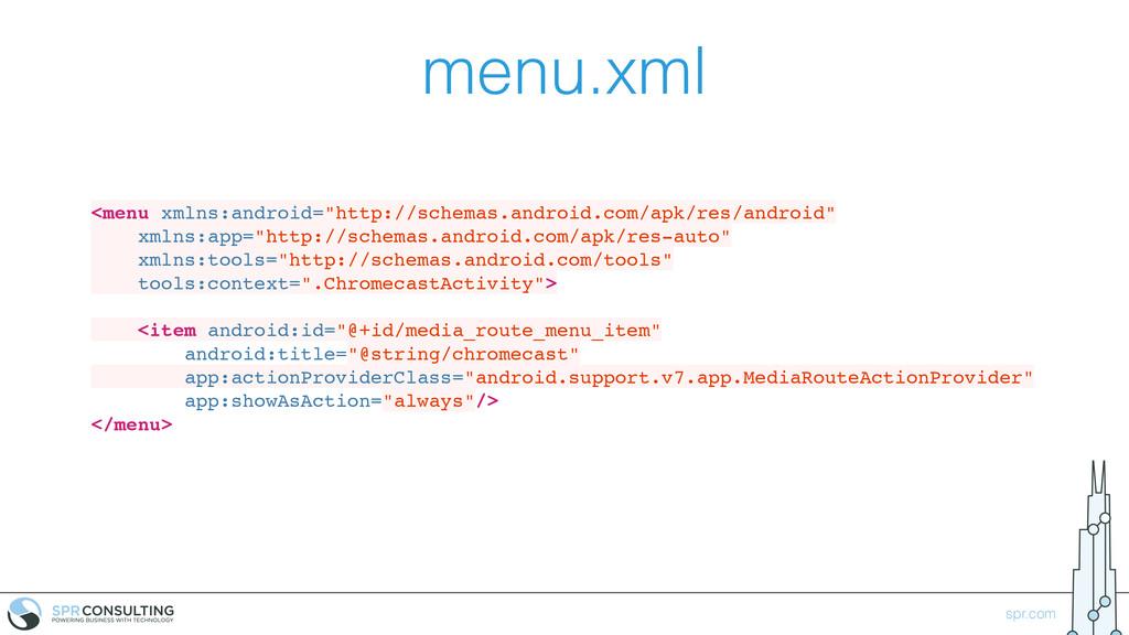 "spr.com menu.xml <menu xmlns:android=""http://sc..."