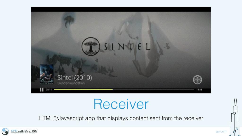 spr.com Receiver HTML5/Javascript app that disp...