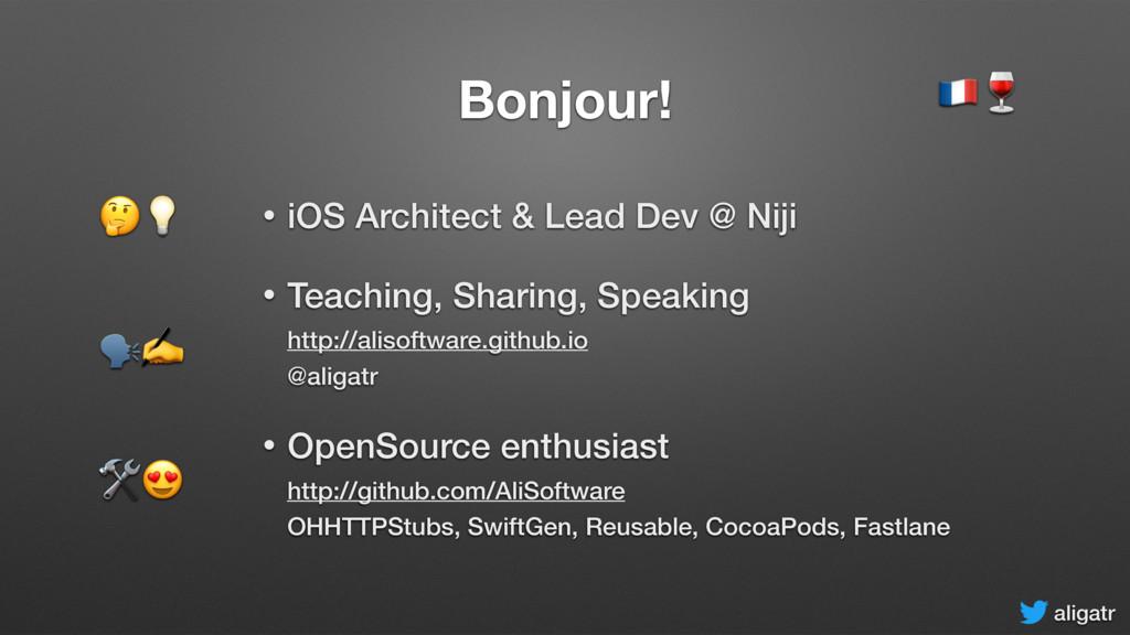 aligatr Bonjour! • iOS Architect & Lead Dev @ N...
