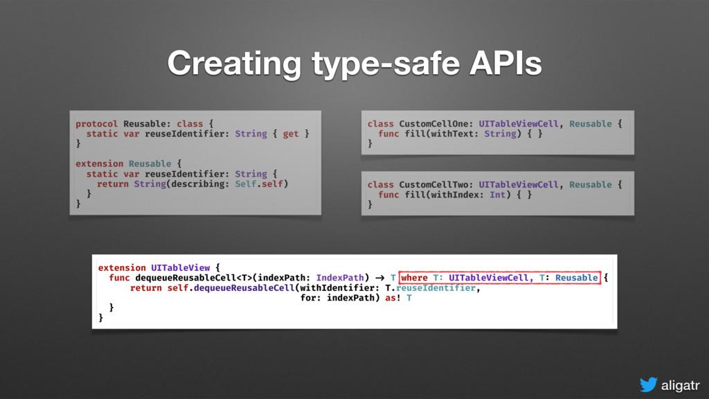 aligatr Creating type-safe APIs protocol Reusab...