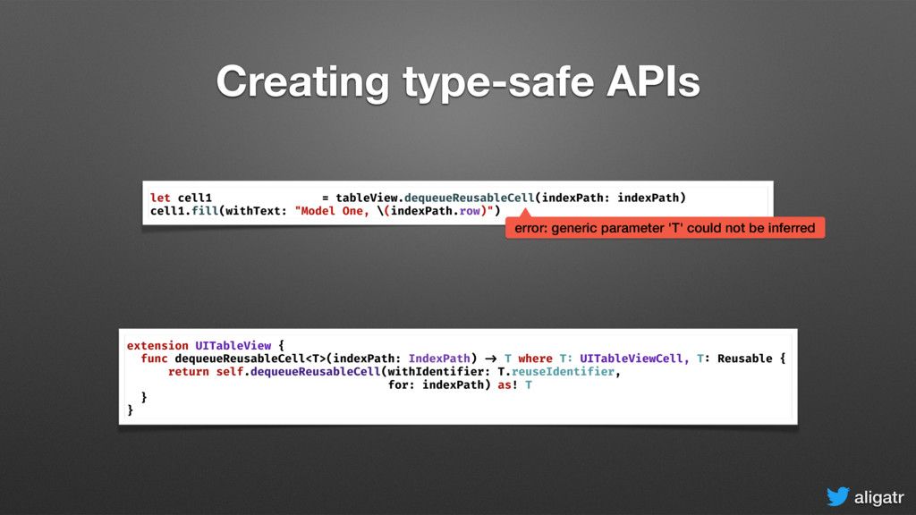 aligatr Creating type-safe APIs extension UITab...
