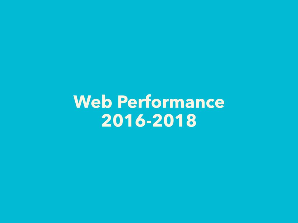 Web Performance 2016-2018