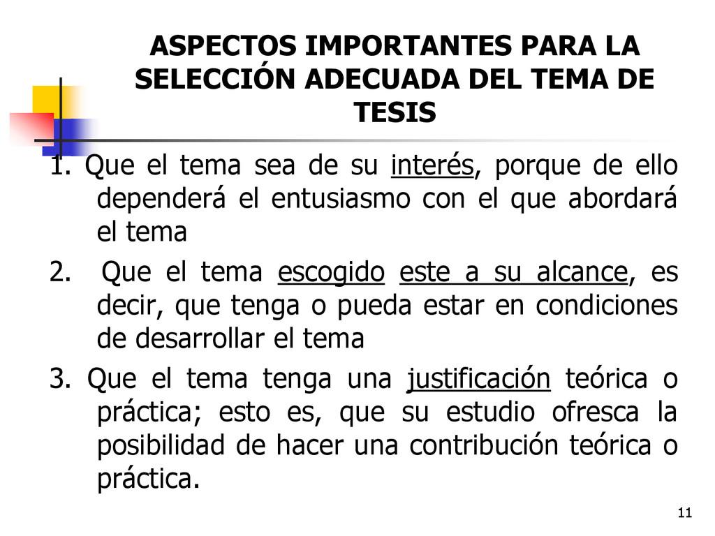 11 ASPECTOS IMPORTANTES PARA LA SELECCIÓN ADECU...