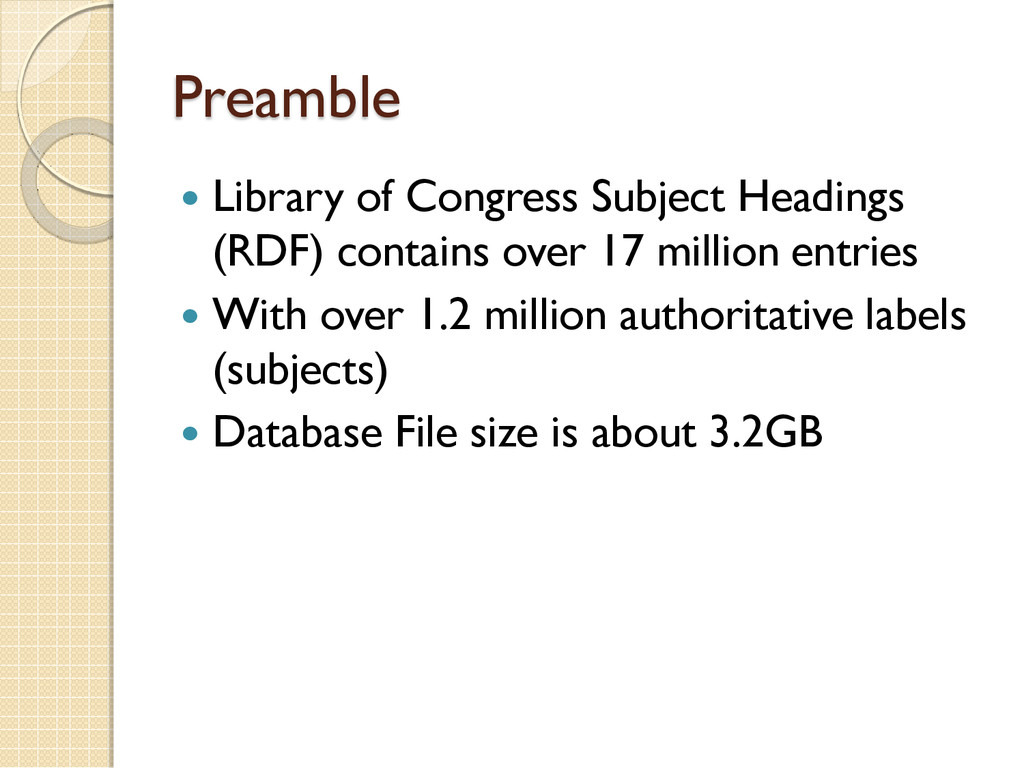 Preamble  Library of Congress Subject Headings...
