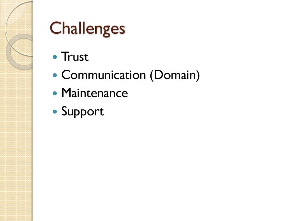 Challenges  Trust  Communication (Domain)  M...