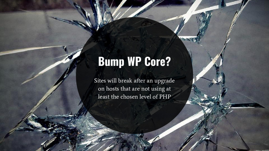Bump WP Core? Sites will break after an upgrade...