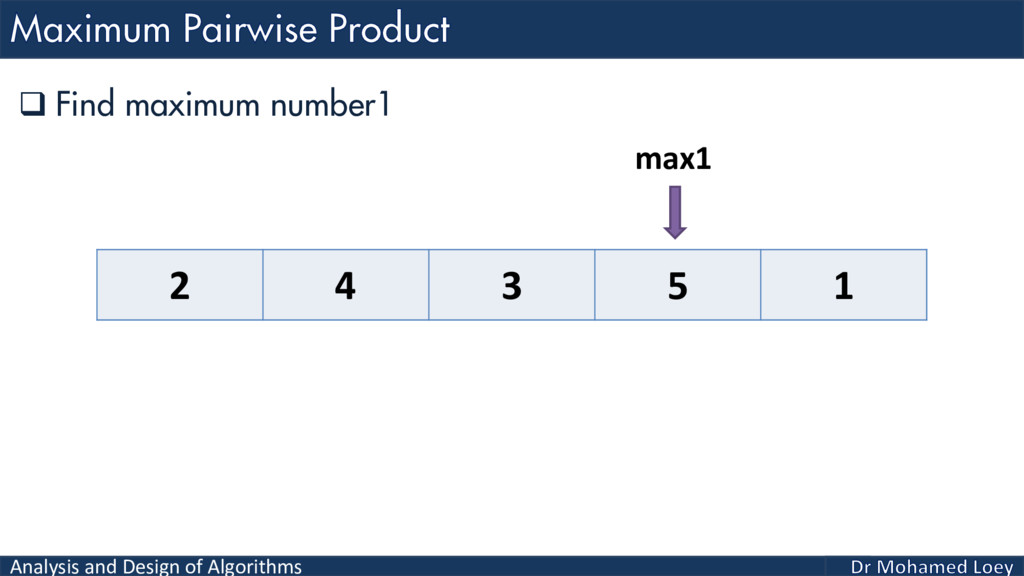 Analysis and Design of Algorithms  Find maximu...