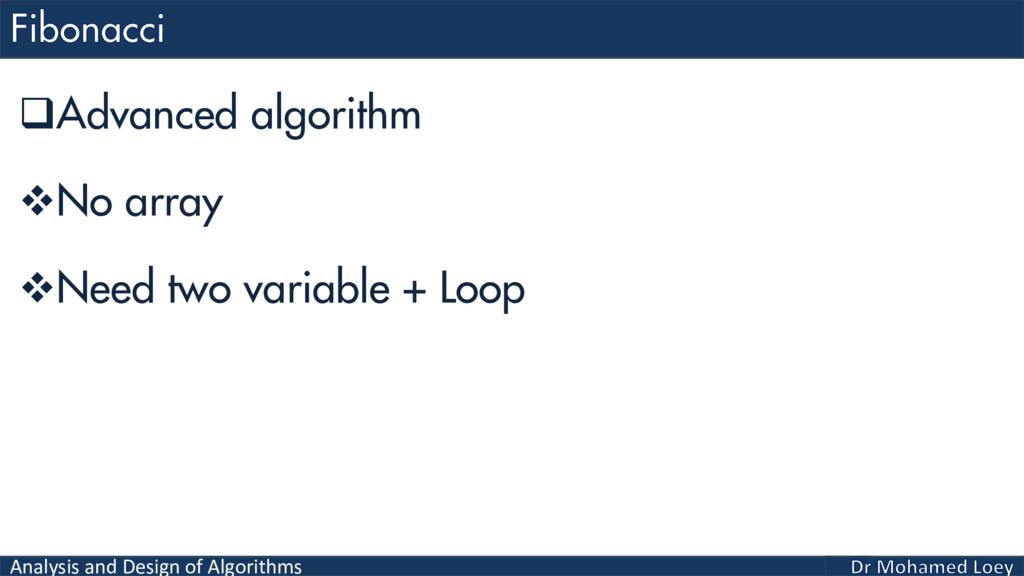 Analysis and Design of Algorithms Advanced alg...