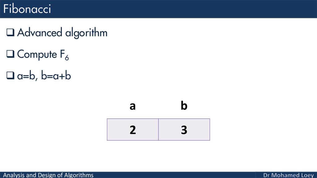 Analysis and Design of Algorithms  Advanced al...