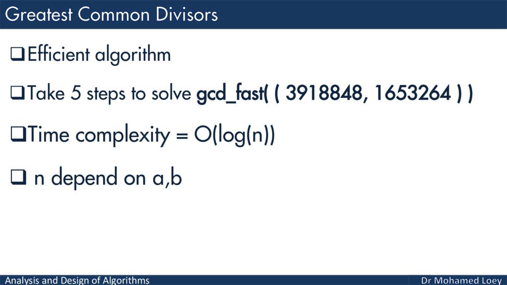 Analysis and Design of Algorithms Efficient al...