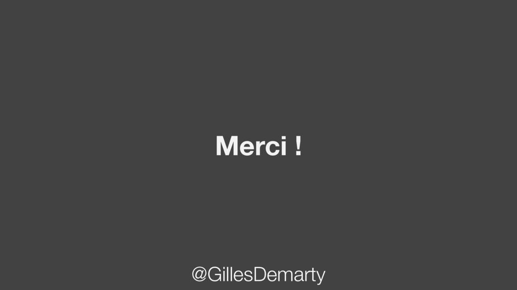 Merci ! @GillesDemarty