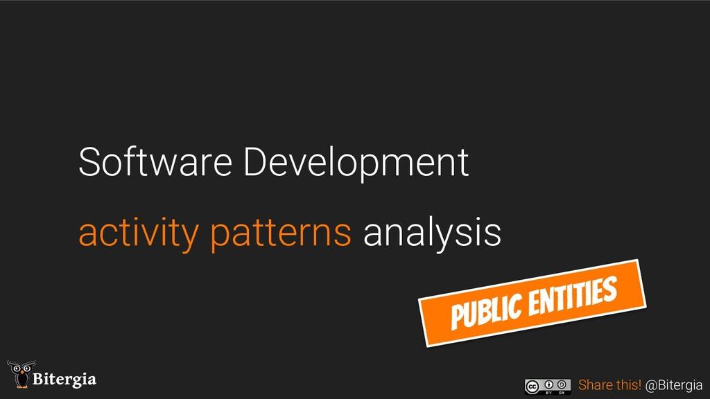 Share this! @Bitergia Bitergia Software Develop...