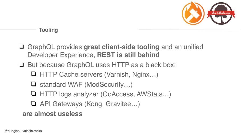 @dunglas - vulcain.rocks Tooling ❏ GraphQL prov...