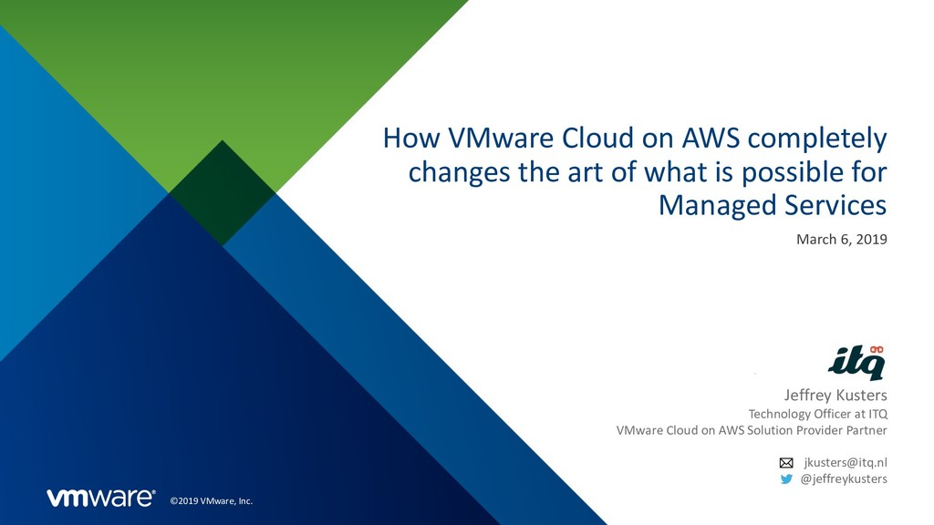 ©2019 VMware, Inc. How VMware Cloud on AWS comp...