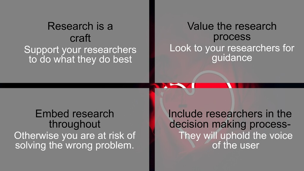 18 Embed research throughout Otherwise you are...