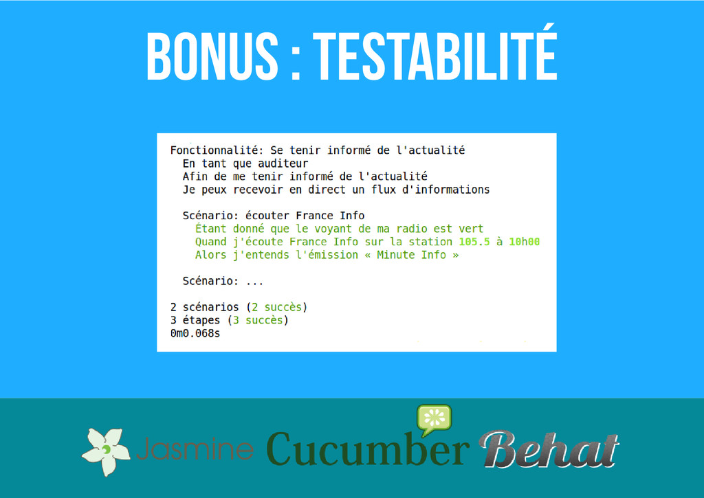 Bonus : testabilité
