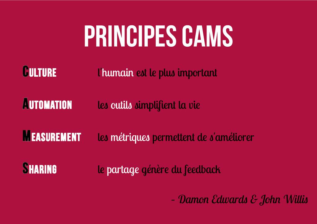 Principes CAMS Culture l'humain est le plus imp...