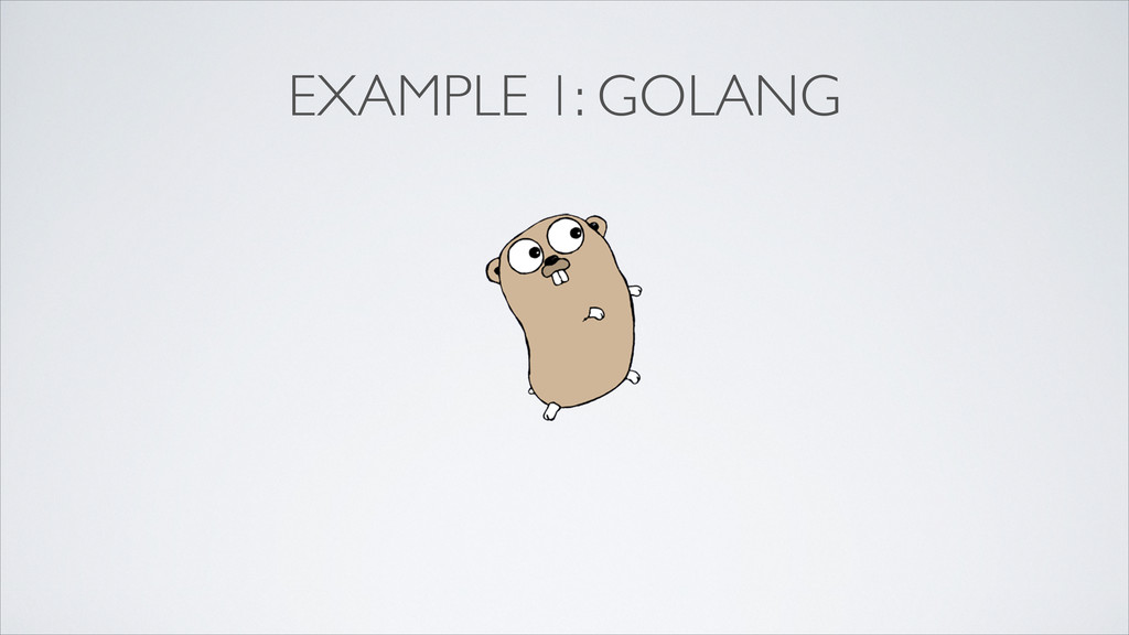EXAMPLE 1: GOLANG