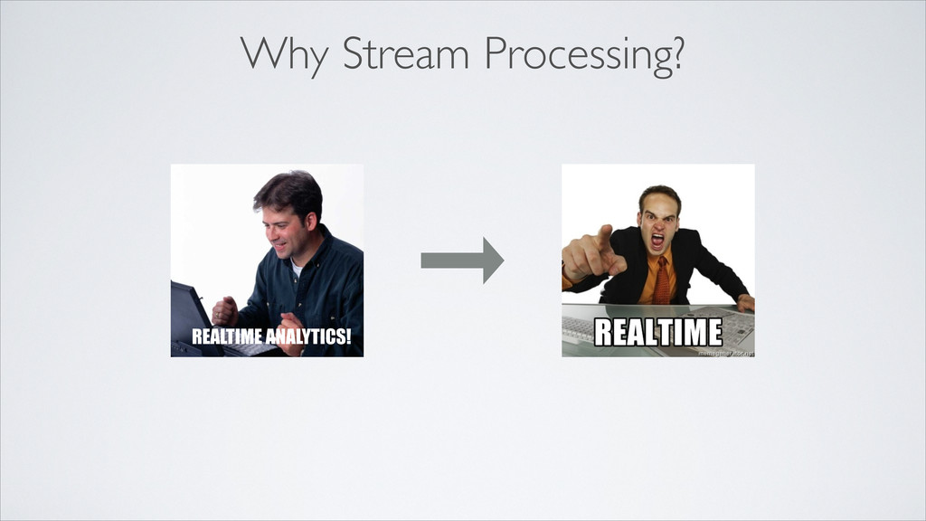 Why Stream Processing? REALTIME ANALYTICS!