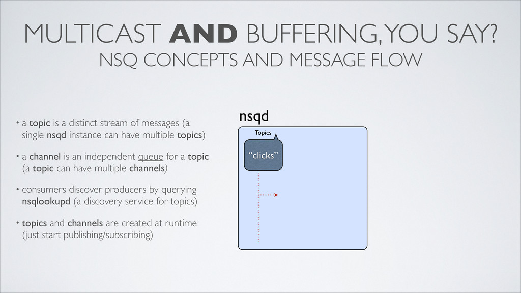 MULTICAST AND BUFFERING, YOU SAY? NSQ CONCEPTS ...