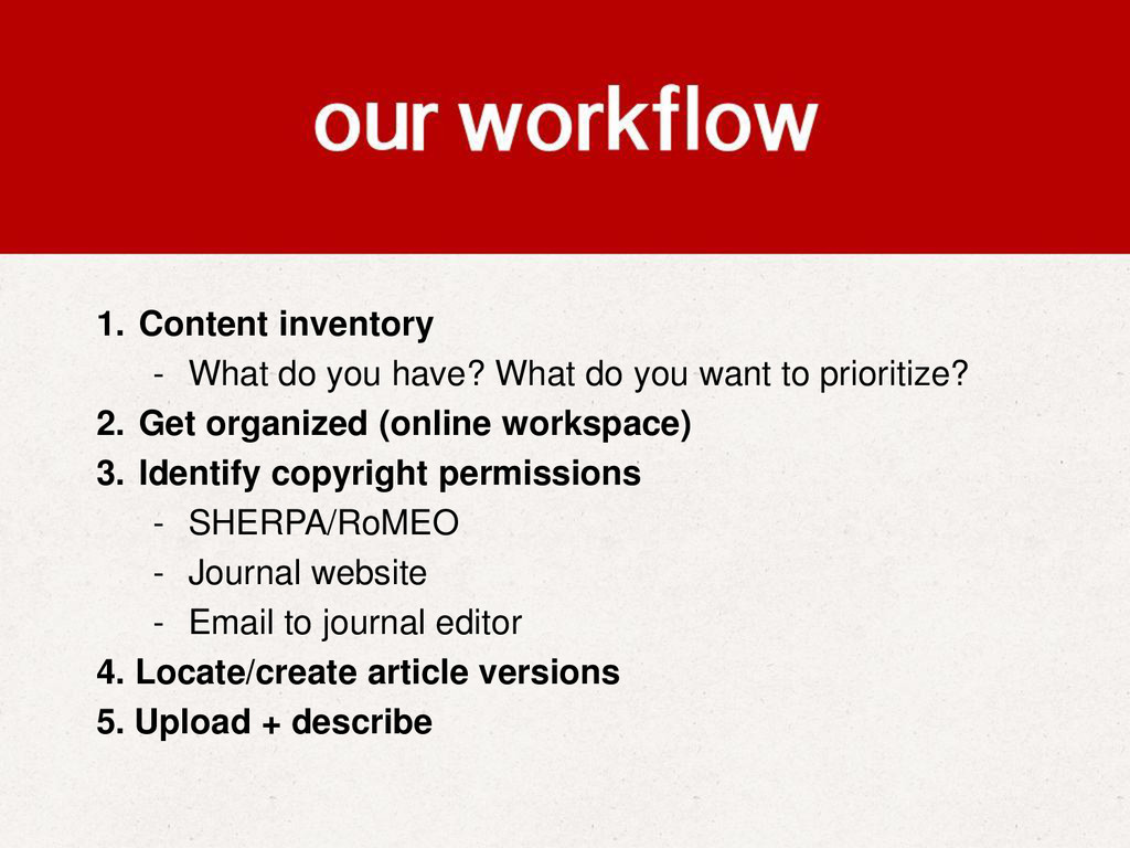 1. Content inventory - What do you have? What d...