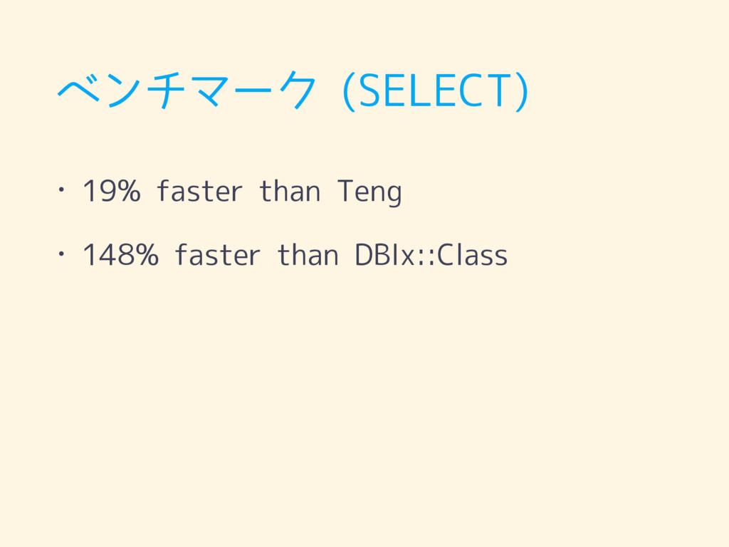 ベンチマーク (SELECT) • 19% faster than Teng • 148% f...