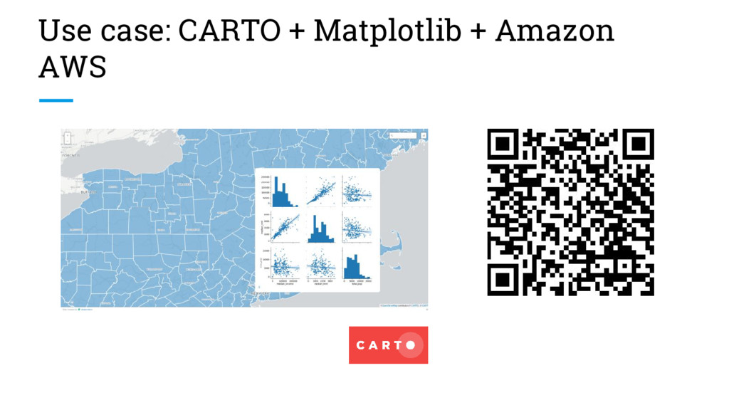 Use case: CARTO + Matplotlib + Amazon AWS