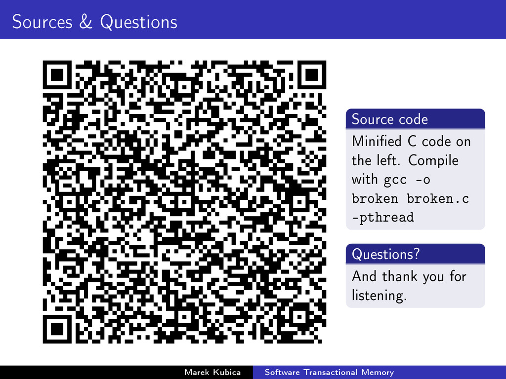Sources & Questions Source code Minied C code ...