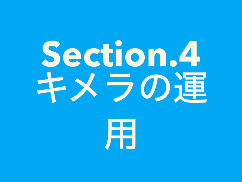 Section.4 Ωϝϥͷӡ ༻